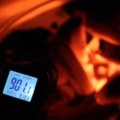 BAMBUKO Grillkohle wird über 900°C heiß