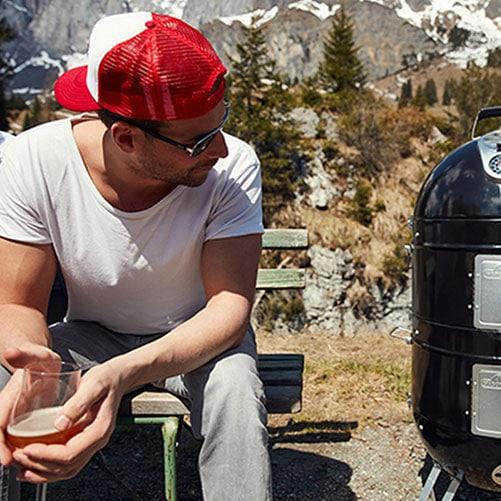 Grillen in den Bergen mit McBrikett