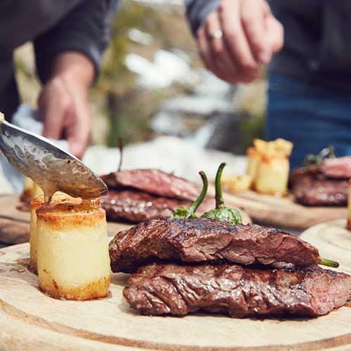 Steak gegrillt mit KOKOKO LONG Grillkohle