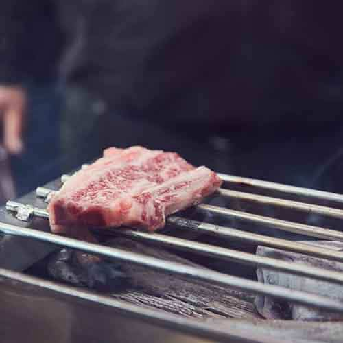 WHITE COAL Binchotan - Premium Holzkohle Tischgrill und Kobe Beef