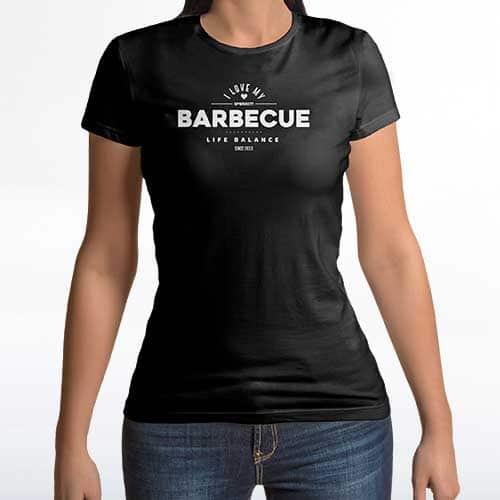 T-Shirt für Damen BBQ life Balance von McBrikett
