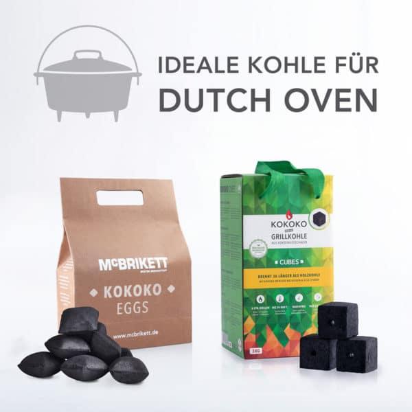 Dutch Oven Mini Pack 6 kg: KOKOKO EGGS und KOKOKO CUBES Kokosbriketts
