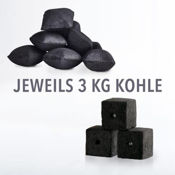 Dutch Oven Mini Pack 6 kg: KOKOKO EGGS und KOKOKO CUBES Kokosbriketts