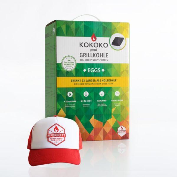 KOKOKO EGGS Grillkohle mit McBrikett Trucker Cap