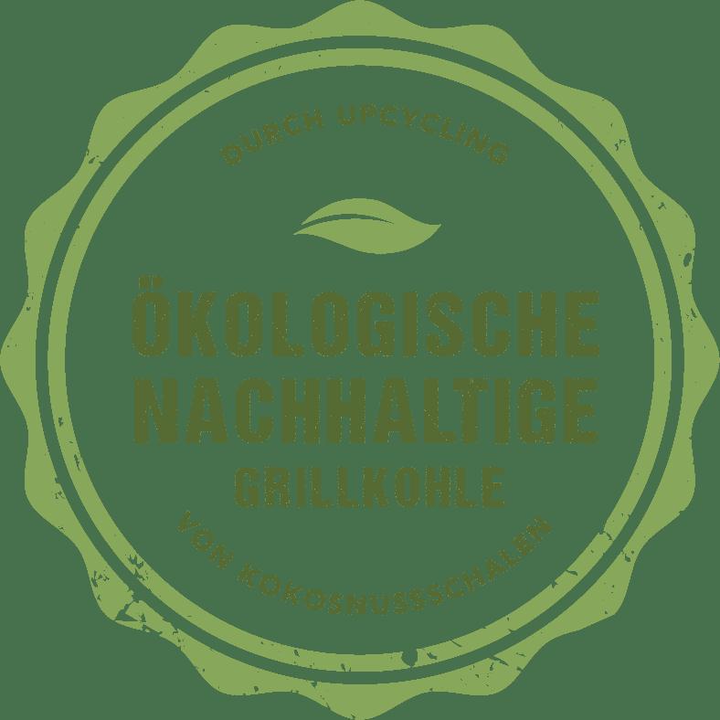 Ökologische nachhaltige Grillkohle durch Upcycling von Kokosnussschalen