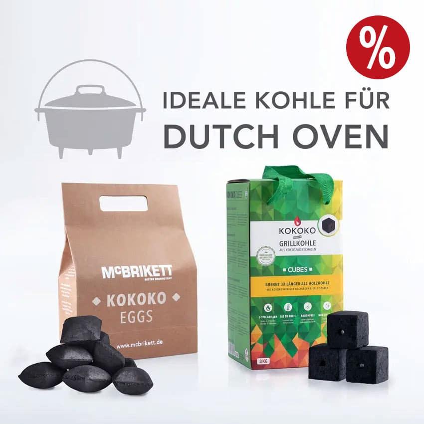 Grillkohle für den Dutch Oven von McBrikett